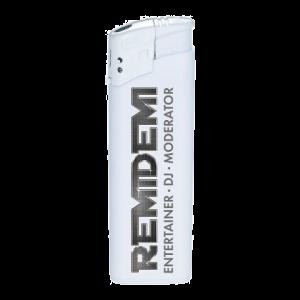 Feuerzeug Remidemi weiß links